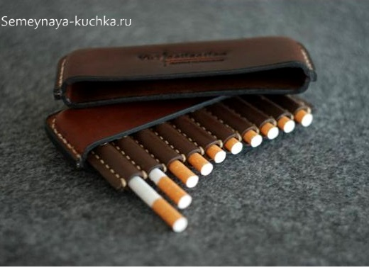 портсигар из кожи для мужчин натуральная кожа