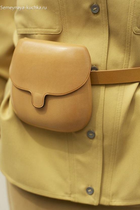 поделка 3d из кожи сумка