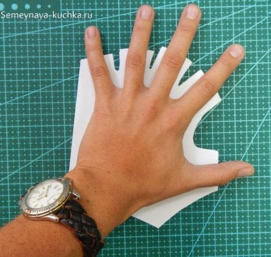 поделка из кожи перчатки митенки