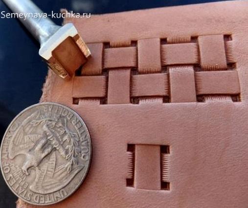 штампы оттиски при работе с кожей и изделиями из нее