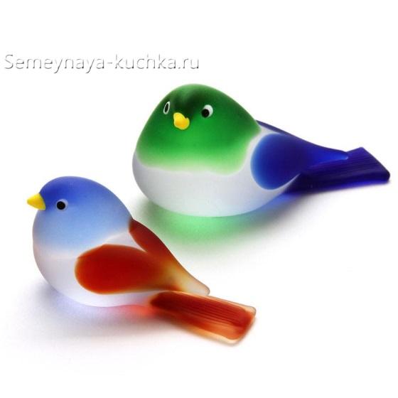 птички из стекла матовые обработка пескоструем