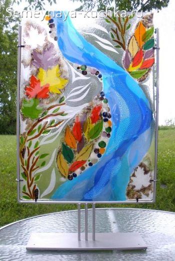 поделка панно мозаика из стекла фьюзинг