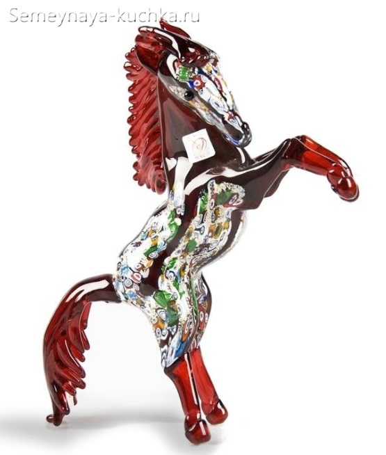 поделка лошадь из стекла Поделки из стекла ручной работы.
