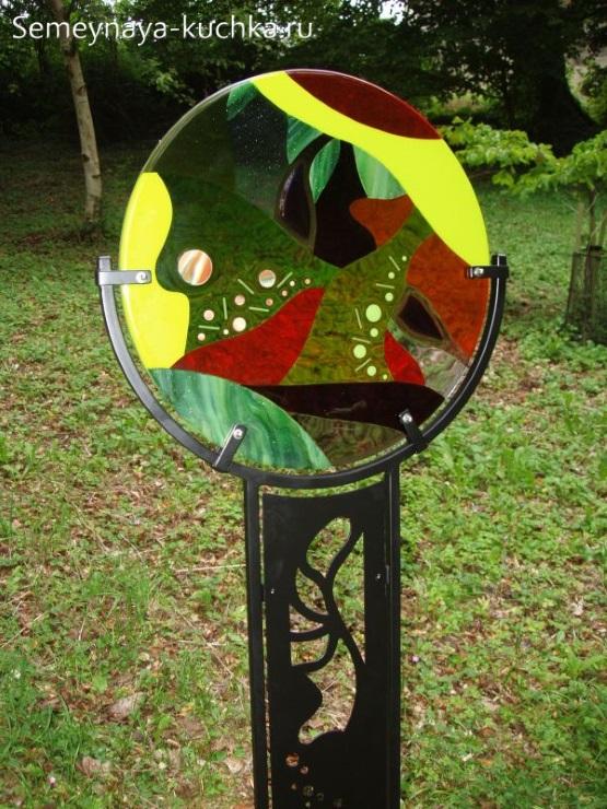 поделка дачная ловец солнца из стекла фьюжн