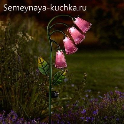 поделка стеклянные цветы светодиодный светильник