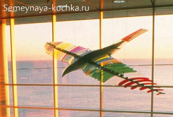 поделка из стекла птица из отдельных элементов