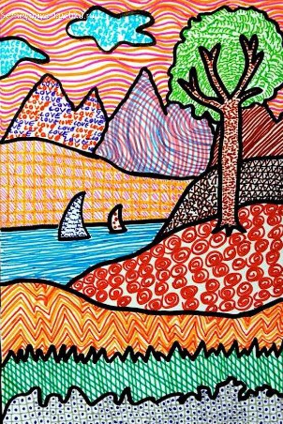 рисование в детском саду фигурная штриховка