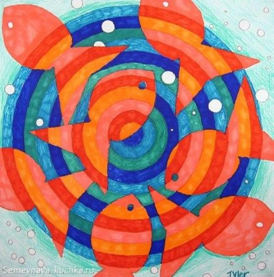 рисование в детском саду циркулярное закрашивание