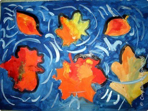 рисование в детском саду осень листья
