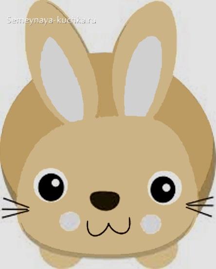 аппликация для малышей зайчик кролик