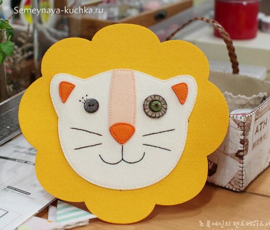 аппликация лев для малышей 3 лет