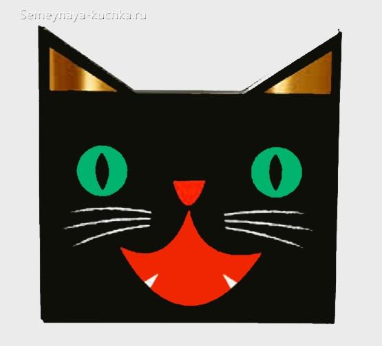 аппликация кошка для малышей в 2 года