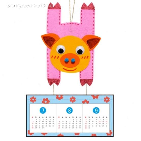 аппликация свинка для детей 3 года