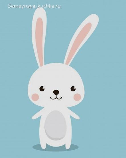 аппликация зайчик для ребенка в 2 года