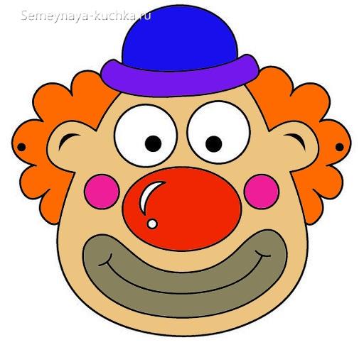 шаблон для аппликации клоун для детей в 2 года