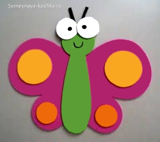 аппликация бабочка для ребенка в 2 года