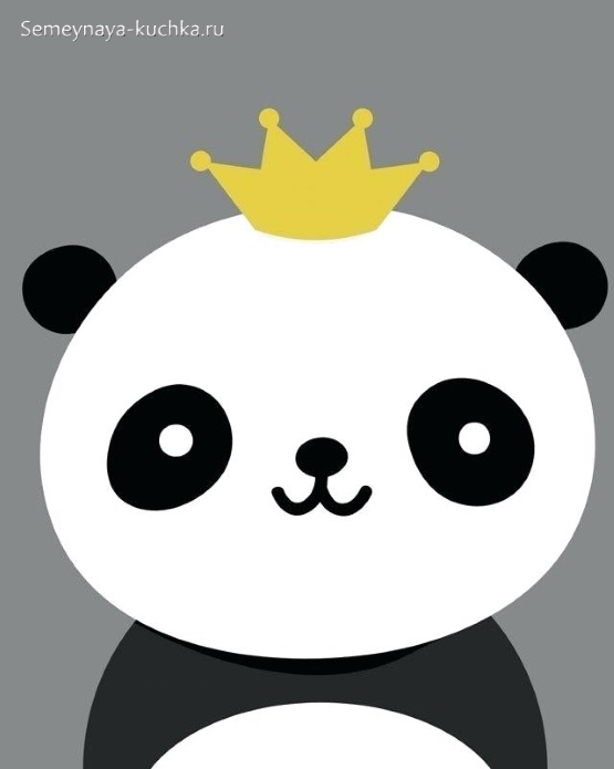 аппликация панда для ребенка в 2 года