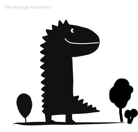 аппликация динозавр для ребенка 2 года