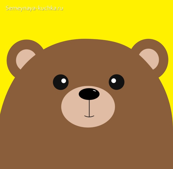поделка для ребенка в 2 года аппликация медведь шаблон