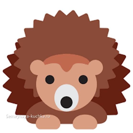 аппликация ежик шаблон для малышей 3 лет