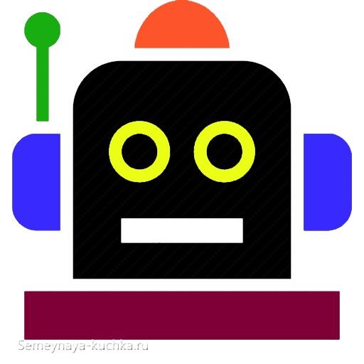 аппликация робот шаблон для малышей 2 лет