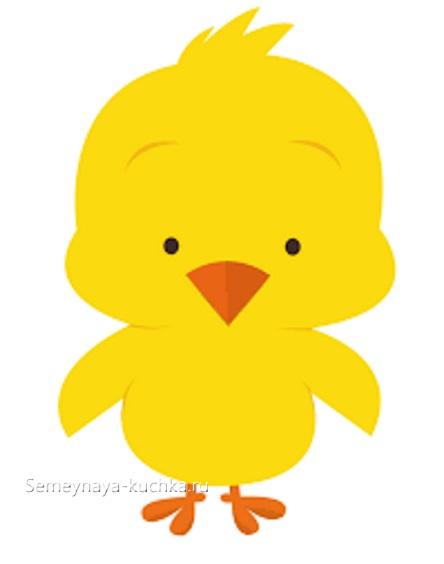 аппликация цыпленок шаблон для малышей 2 лет