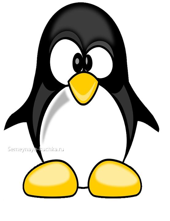 шаблон аппликации пингвин для малышей в 3 года