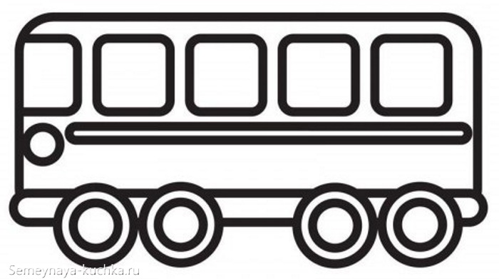 аппликация автобус для малышей