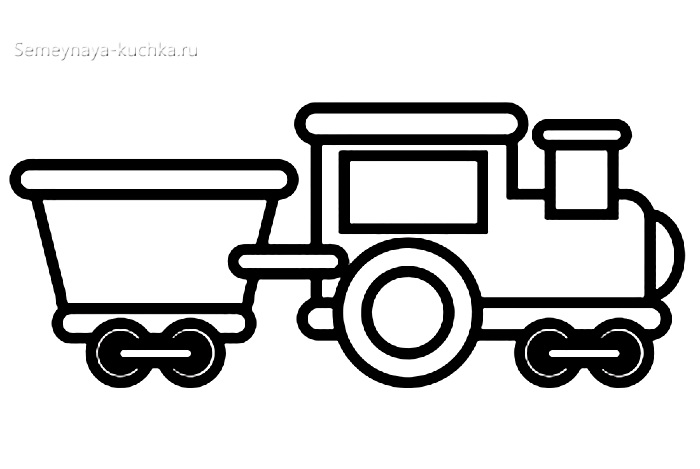 шаблон аппликация поезд