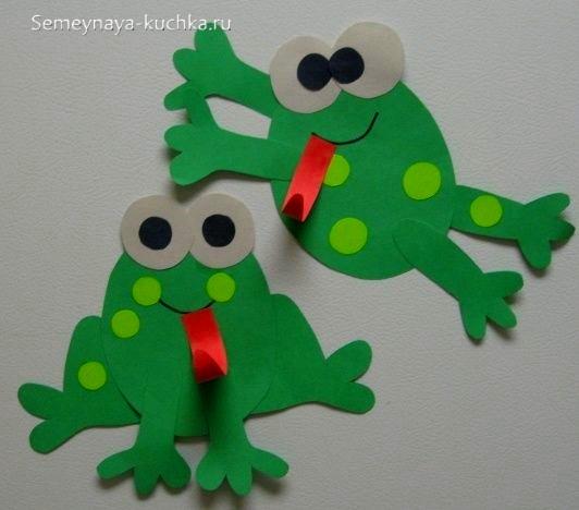 шаблон аппликации для малышей лягушки