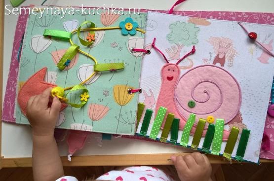 книжка из фетра детская сенсорная