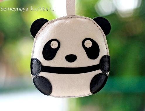 брелок панда из кожи сшить самим