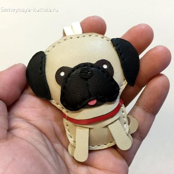 брелок щенок на рюкзак или телефон как сделать