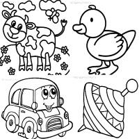 раскраска для маленьких детей малышей