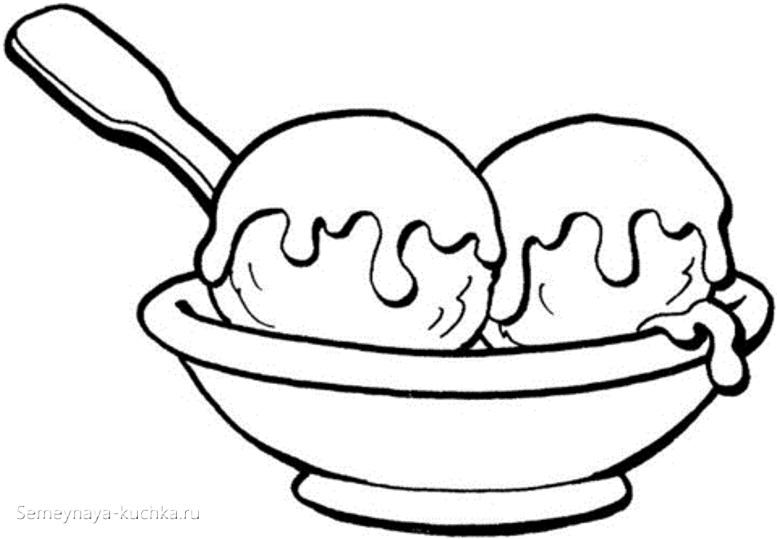 мороженое раскраски для самых маленьких на 1 год