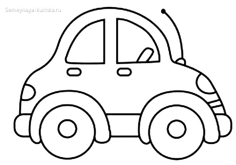 автомобиль раскраски для самых маленьких детей