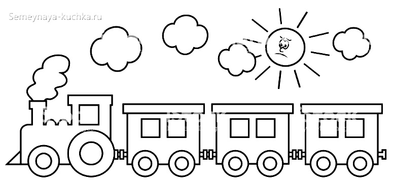 поезд раскраски для самых маленьких детей