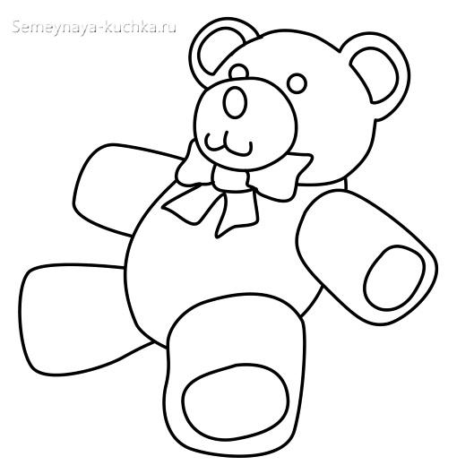 плюшевый медведь игрушка раскраски для самых маленьких детей