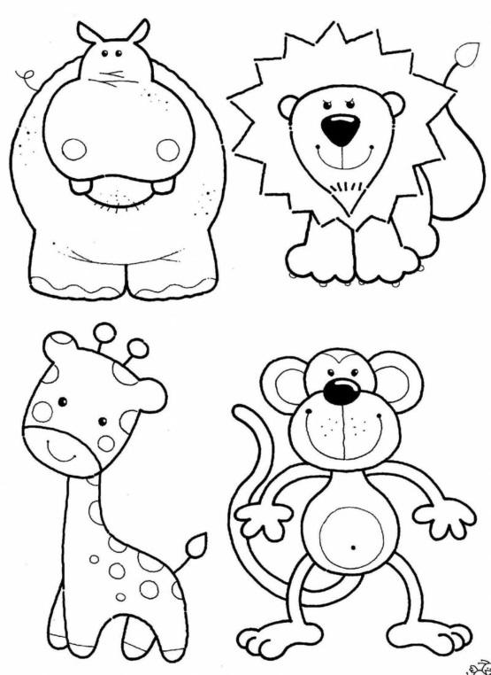 зоопарк животные раскраска для маленьких детей