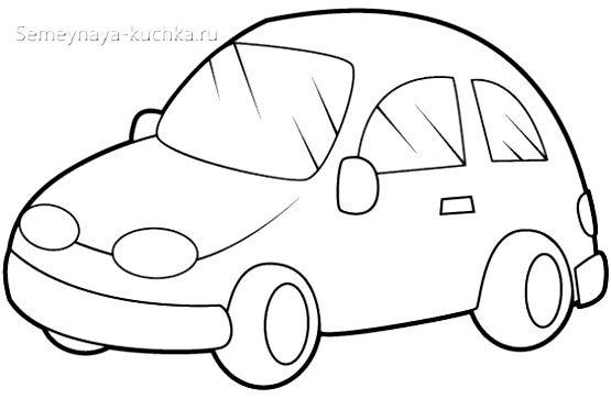автомобиль раскраска для малышей