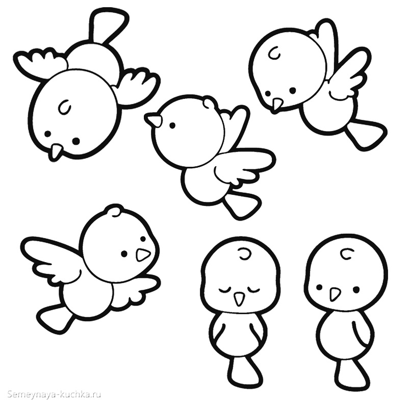 птички птенчики в небе