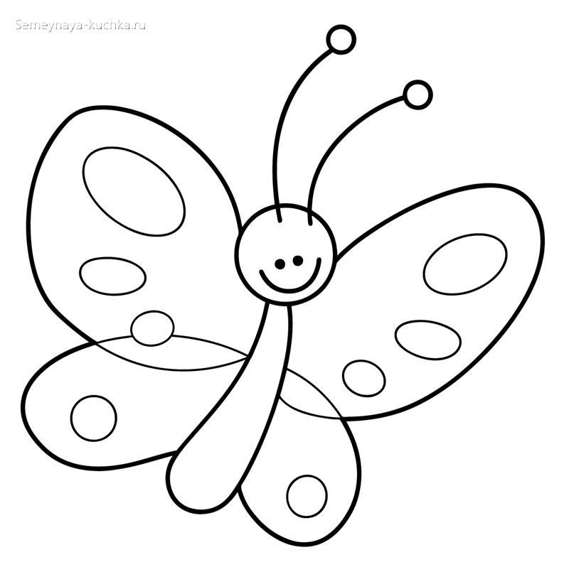 бабочка раскраски для самых маленьких детей