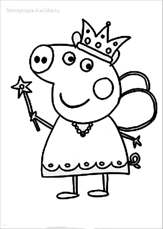 свинка пеппа раскраски для самых маленьких детей