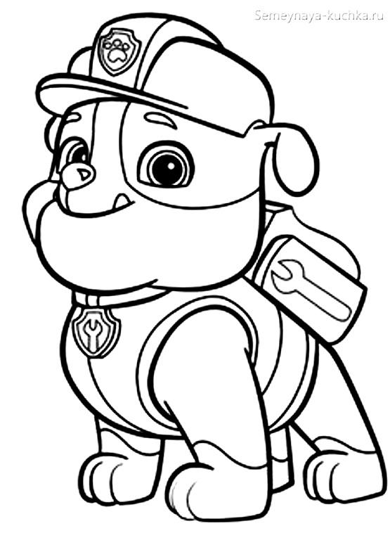 раскраска картинка для мальчиков щенячий патруль