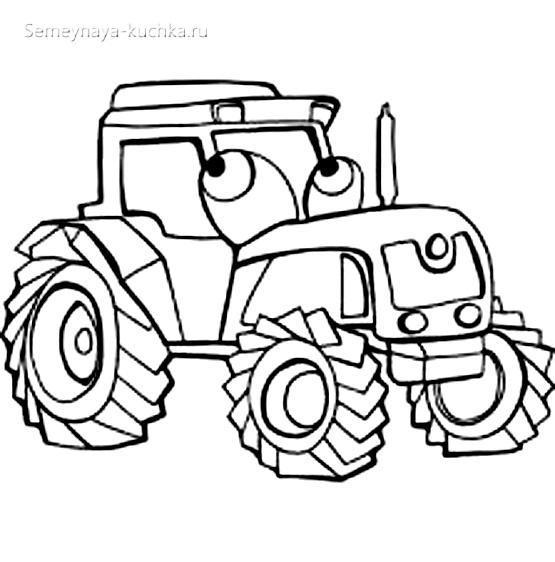 раскраска картинка трактор