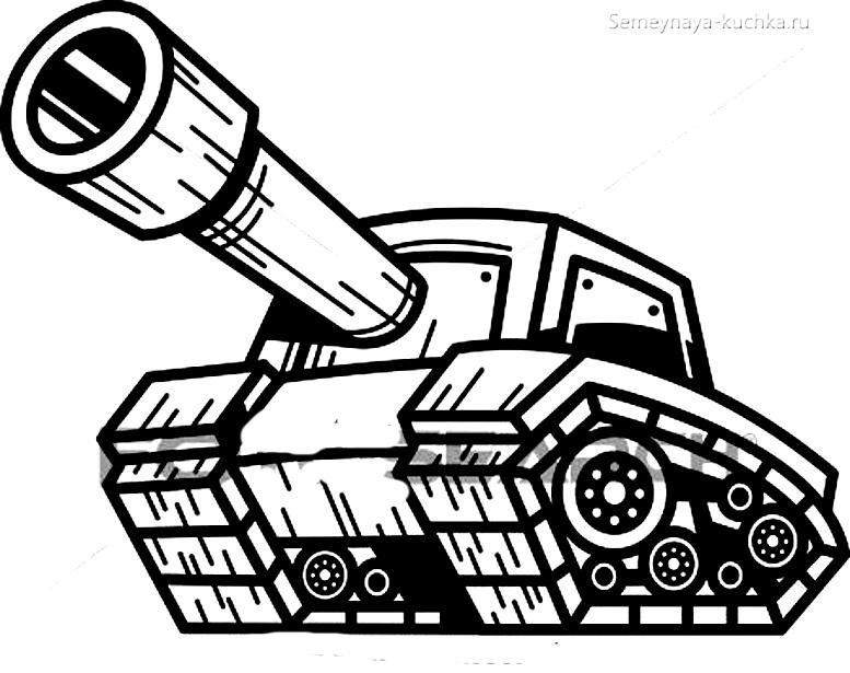 раскраска для мальчиков танк