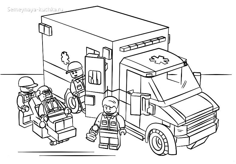 раскраска для мальчиков спецтехника лего