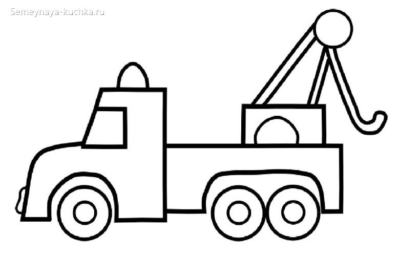 раскраски для мальчиков машинка подъемник эвакуатор