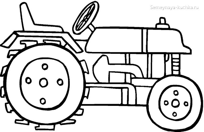 раскраски для мальчиков трактор спецтехника