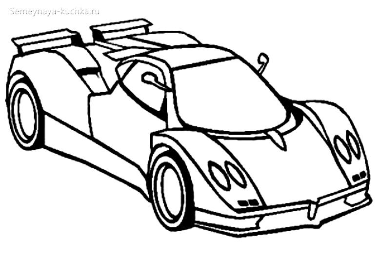 раскраски для мальчиков гоночная машина